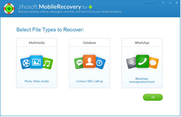 واجهة jihosoft android recovery