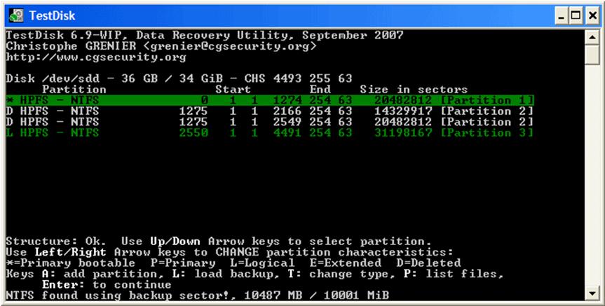 test disk1