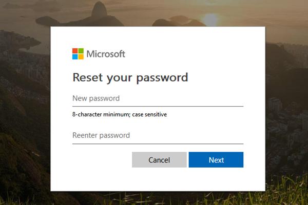 إعادة تعيين كلمة المرور لحساب Microsoft
