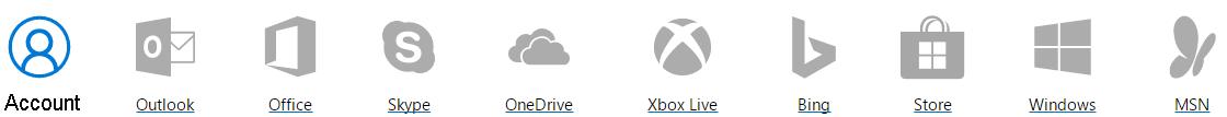 خدمات لحساب مايكروسوفت