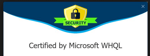 certified by microsoft whql