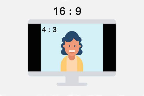 نسبة العرض إلى الارتفاع للفيديو