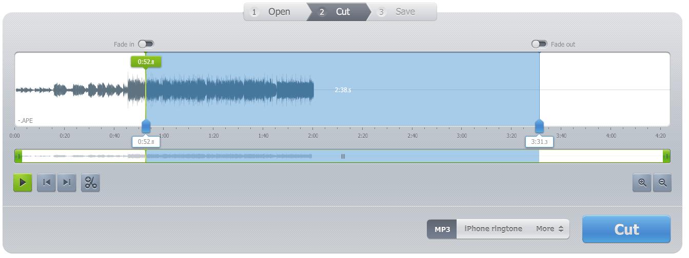 موقع audio cutter pro قص الاغاني اون لاين
