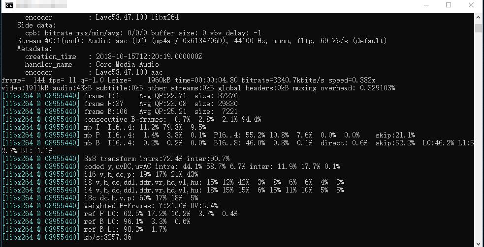 تحويل فيديو من mov الى mp4 عبر ffmpeg2
