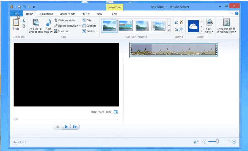 إضافة فيديو إلى Windows Movie Maker