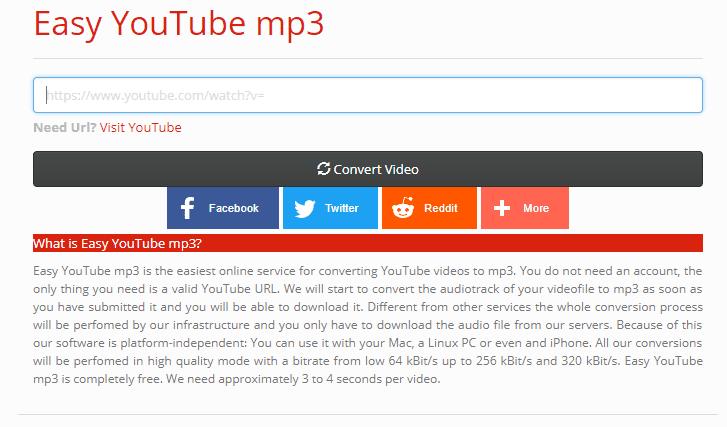تحويل اليوتيوب الى صوت mp3 باستخدام Easy YouTube mp3