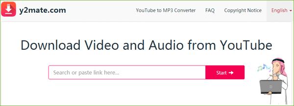 تحويل اليوتيوب الى صوت mp3 باستخدام Y2mate