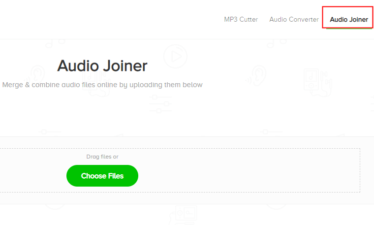 موقع audio joiner