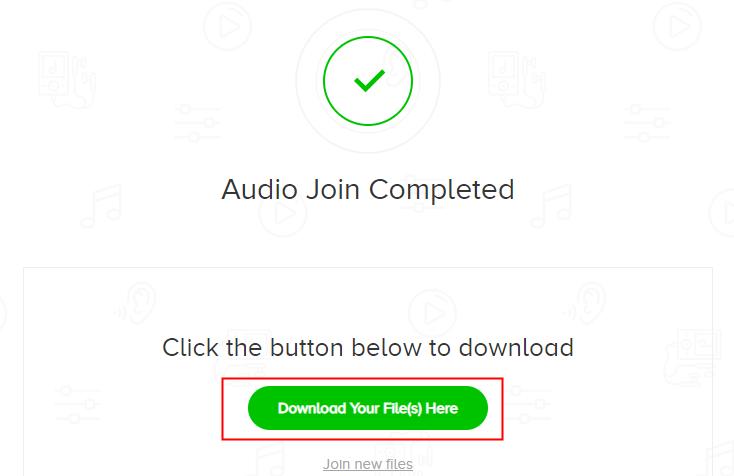 تنزيل الملفات من audio joiner