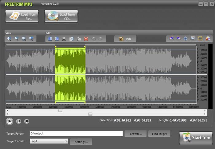 تحرير mp3 باستخدام FreeTrim MP3