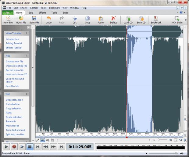 برامج دمج الصوت wavepad