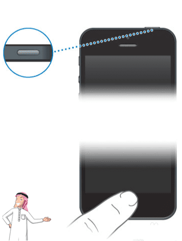 اضغط مع الاستمرار على زري HOME و POWER في iPhone