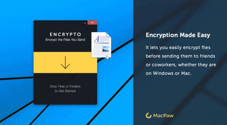 قفل الملفات بكلمة سر باستخدام encrypto