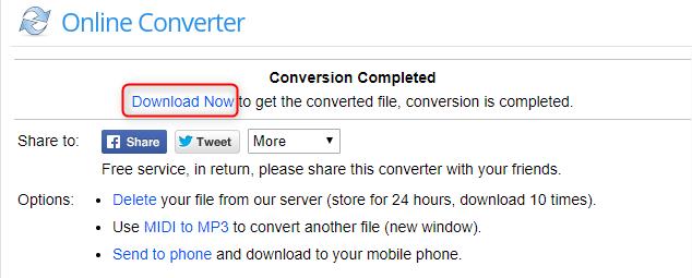 midi إلى mp3 بواسطة Online Converter