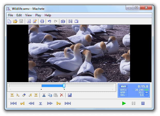 برنامج تقليم الفيديو Machete video editor lite