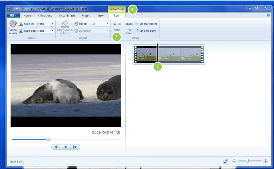 تقطيع الفيديو باستخدام Windows Movie Maker