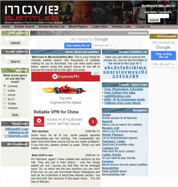 مواقع تنزيل ترجمة الافلام Moviesubtitles
