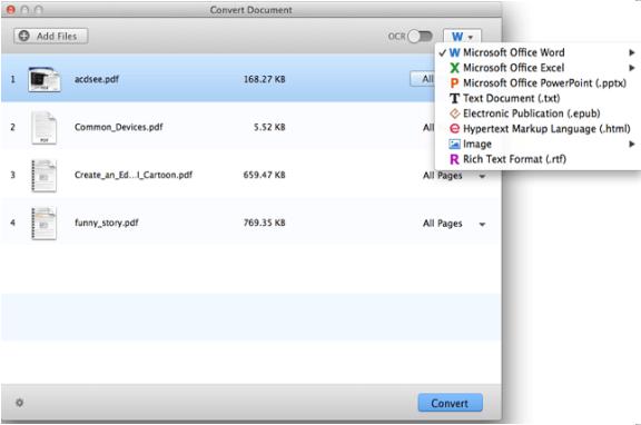 برنامج PDF Converter for Mac